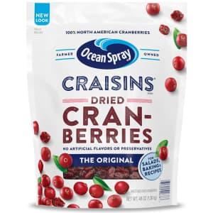 Ocean Spray Craisins Dried Cranberries 48-oz. Bag for $6.35 via Sub & Save