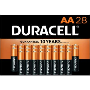 Duracell CopperTop AA Alkaline Batteries 28-Pack for $11 via Sub & Save