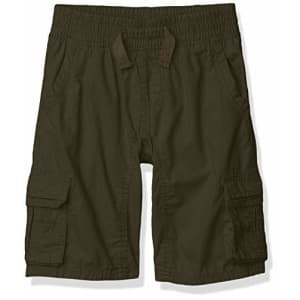 Southpole - Kids Boys' Little Belted Mini Canvas Cargo Shorts in, Olive Elastic, Large for $15