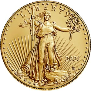 2021 American Gold Eagle 1-oz. $50 Gold Coin for $1,877