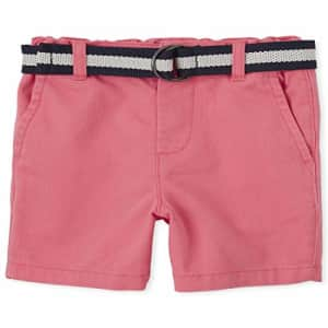 The Children's Place Baby Boys' Belted Chino Shorts, ASTILBE, 12-18MOS for $8