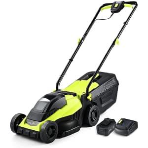 """Snapfresh 20V 14"""" Cordless Lawn Mower for $300"""
