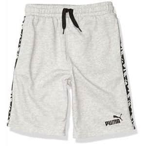 PUMA Boys' Shorts, Lt Heather Grey, Medium (5) for $20