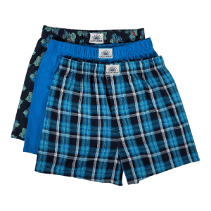 Lucky Brand Men's Woven Boxers 3-Pack for $11