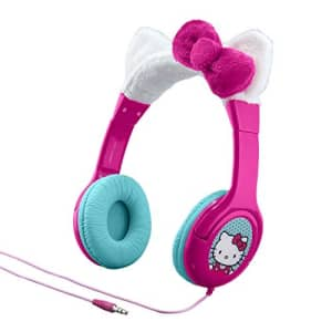 eKids Hello Kitty Kid Friendly Headphones with Built in Volume Limiting Feature for Safe Listening for $29