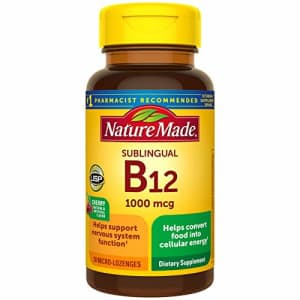 Nature Made Sublingual Vitamin B12 1000 mcg Micro-Lozenges, 50 Count for Metabolic Health (Pack of for $11