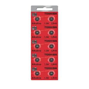 Toshiba LR41 Battery 3V Battery 1.5V Alkaline (50 Batteries) for $14