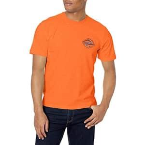 IZOD Men's Saltwater Short Sleeve Graphic T-Shirt, Harvest Pumpkin Fish, XX-Large for $16