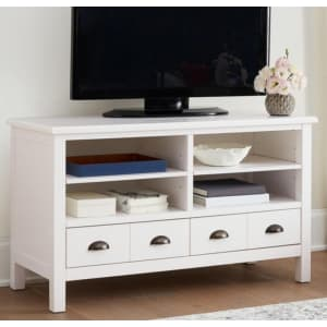 """Home Decorators Collection Whitehaven 45"""" TV Stand w/ Storage for $185"""