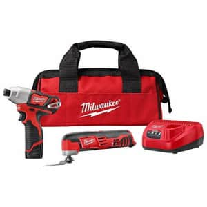 Milwaukee M12 12-Volt Lithium-Ion Cordless Oscillating Multi-Tool and Impact Driver Combo Kit for $145