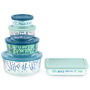 Pyrex Decorated What's Shaking 10-Pc. Food Storage Container Set for $20