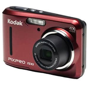 """Kodak PIXPRO Friendly Zoom FZ43-RD 16MP Digital Camera with 4X Optical Zoom and 2.7"""" LCD Screen for $95"""