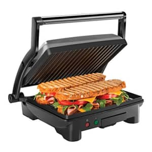 Chefman Panini Press Grill and Gourmet Sandwich Maker Non-Stick Coated Plates, Opens 180 Degrees to for $70