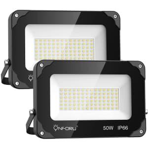 Onforu LED Flood Light 2-Pack for $32