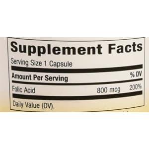 Nature's Way - Folic Acid, 800 mcg, 100 Capsules for $18