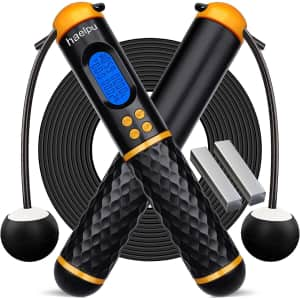 Haelpu Weighted Jump Rope for $8