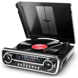 Ion Audio Mustang LP 4-in-1 Classic Car-Styles Music Center for $90