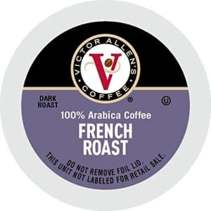 French Roast for K-Cup Keurig 2.0 Brewers, 42 Count, Victor Allen's Coffee Dark Roast Single Serve for $26