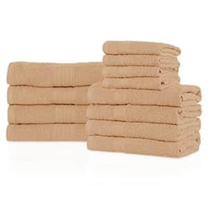 "Superior Eco-Friendly Soft & Absorbent Solid Towel Set, 100% Ringpspun Cotton, (4 Bath 27"" x 54"", 4 for $52"