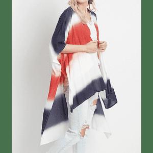 Maurices Women's Americana Tie Dye Ruana for $11