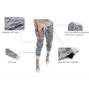 onlypuff Women's Lounge Pant Track Elastic WaistCamo Sweatpants Jogger Activewear S, for $26