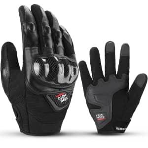 Kemimoto Waterproof Motorcycle Gloves for $10