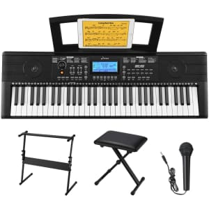 Donner 61-Key Beginner Electronic Piano for $98