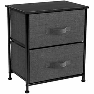 Sorbus Nightstand with 2 Drawers - Bedside Furniture & Night Stand End Table Dresser for Home, for $44
