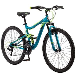 Mongoose Status 2.2 Womens Mountain Bike, 26-Inch Wheels, 21-Speed Shifters, Aluminum Frame, Dual for $458