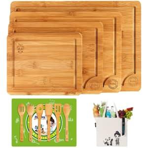 Boelley Bamboo Cutting Board Set for $20
