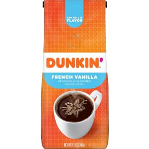 Dunkin Donuts Dunkin' French Vanilla Flavored 12-oz. Ground Coffee for $3.41 via Sub & Save