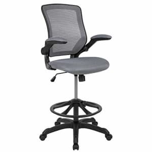 Flash Furniture Mid-Back Dark Gray Mesh Ergonomic Drafting Chair with Adjustable Foot Ring and for $249