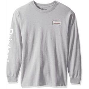 Brixton Men's Palmer II Standard FIT Long Sleeve T-Shirt, Heather Grey, S for $30
