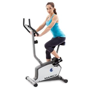 Marcy Upright Exercise Bike with Adjustable Seat and 8 Magnetic Resistance Preset Levels for $169