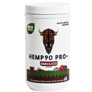 Evo Hemp 90 Protein Plus CBD Powder 14-oz. Jar for $24
