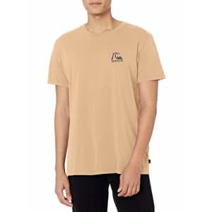 Quiksilver Men's Short Sleeve Shirt, Apricot Fresh Take Ss, M for $13
