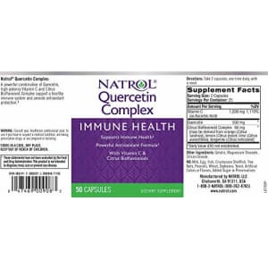 Natrol Quercetin Complex, Immune Health with Vitamin C and Citrus Bioflavonoids, 500 mg 50 Count for $17