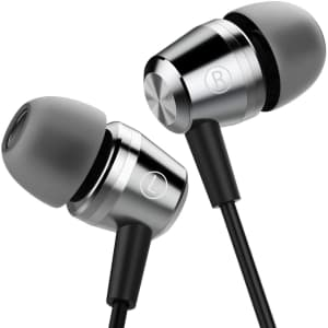 Fixscad Wrap Around Wired Earphones with Microphone for $17