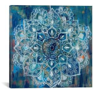 "iCanvas ""Mandala in Blue II"" 37"" x 37"" Canvas Wall Art for $99"