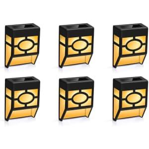 Winmor Solar Wall Light 6-Pack for $19