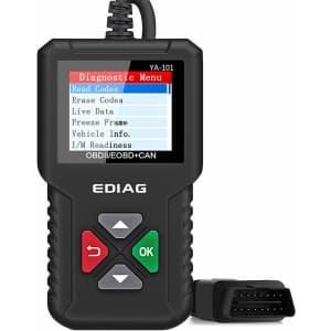Ediag OBD2 Car Diagnostic Scanner for $23