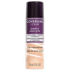 Covergirl Simply Ageless + Olay Liquid Foundation for $6.93 via Sub & Save