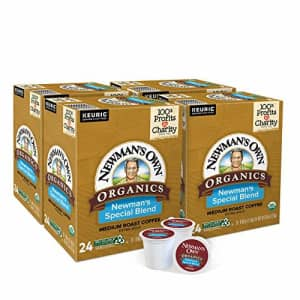 Newman's Own Organics Special Blend, Single-Serve Keurig K-Cup Pods, Medium Roast Coffee, 96 Count for $38