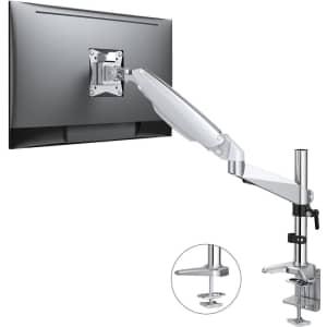 Atumtek Adjustable Gas Spring Monitor Desk Mount for 15''-32'' Screens for $39