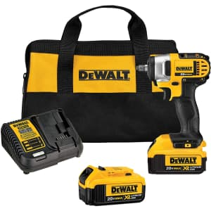 DeWalt 20V MAX Cordless Impact Wrench Kit with Hog Ring for $249