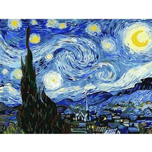 Beetwo Van Gogh Starry Sky 5D Diamond Painting Kit for $5