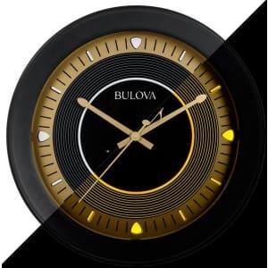 "Bulova Long Play 16.5"" Indoor / Outdoor Clock w/ Bluetooth Speakers for $156"