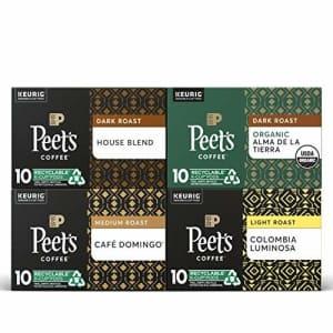 Peet's Peets Coffee Dark, Medium, & Light Roast Variety Pack K-Cup Coffee Pods for Keurig Brewers, Variety for $50