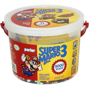 Super Mario Bros. 3 Craft Bead Bucket Activity Kit for $10