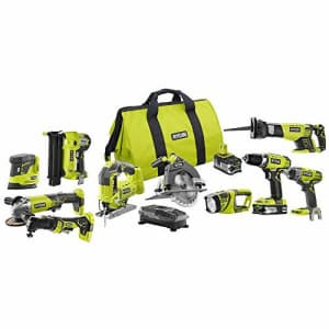 Ryobi 18-Volt ONE+ Lithium-Ion Cordless (10-Tool) Combo Kit with (1) 4.0 Ah Battery and (1) 1.5 Ah for $999